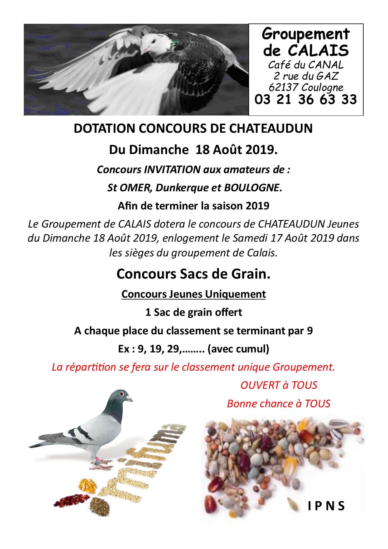 Dotation chateaudun 18 aout